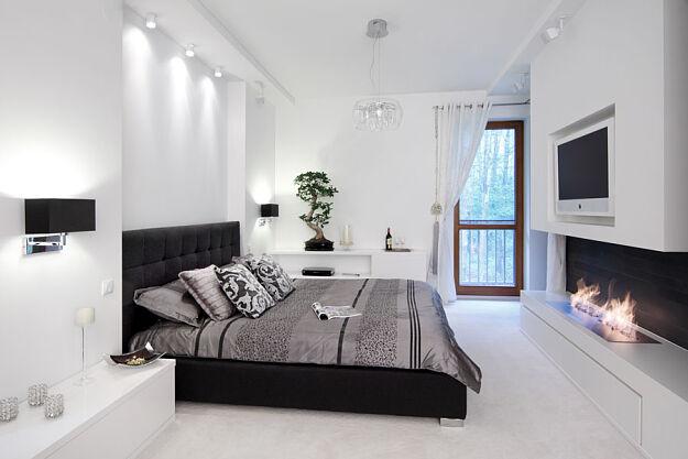 Biała sypialnia z czarnymi elementami :: Świat Rezydencji :: Luksusowa strona życia - rezydencje ...