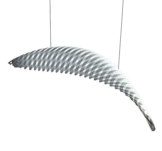 Lampa Wing, projekt David Trubridge