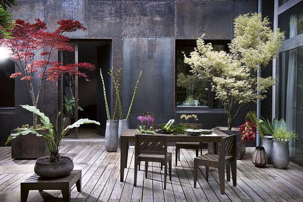 Zestaw stołowy z drewna czerwonej jodły marki Sia Home Fashion ...